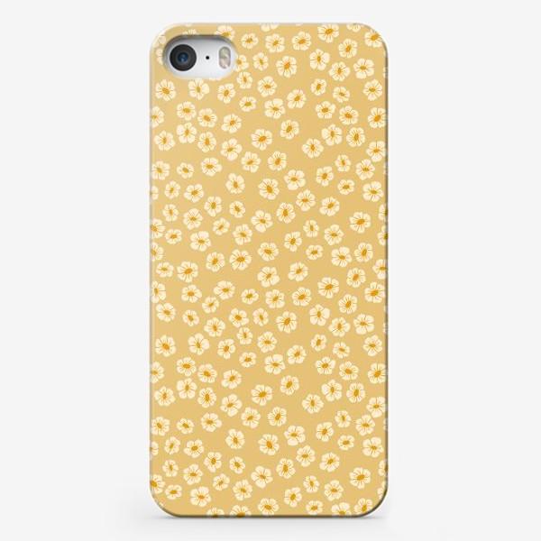 Чехол iPhone «Мелкие цветы на бежевом »