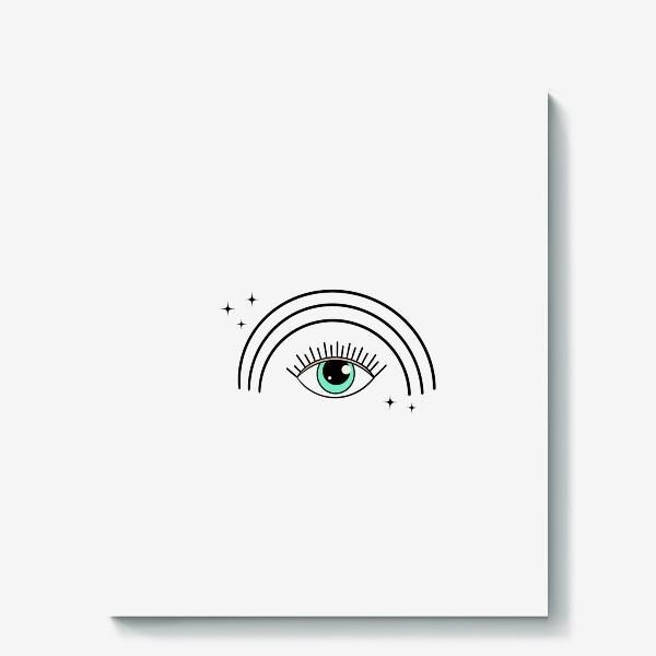 Холст «Глаз с радугой»