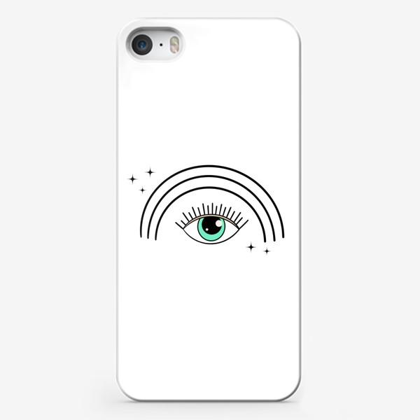 Чехол iPhone «Глаз с радугой»