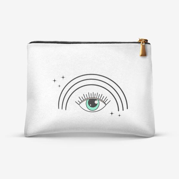 Косметичка «Глаз с радугой»