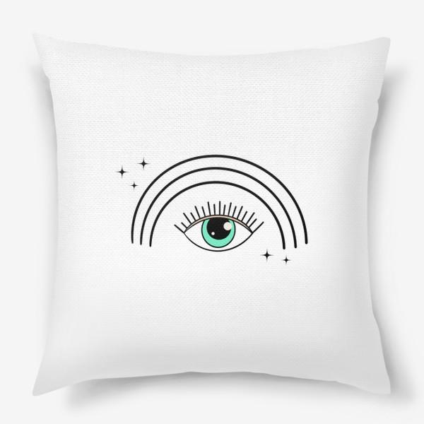 Подушка «Глаз с радугой»