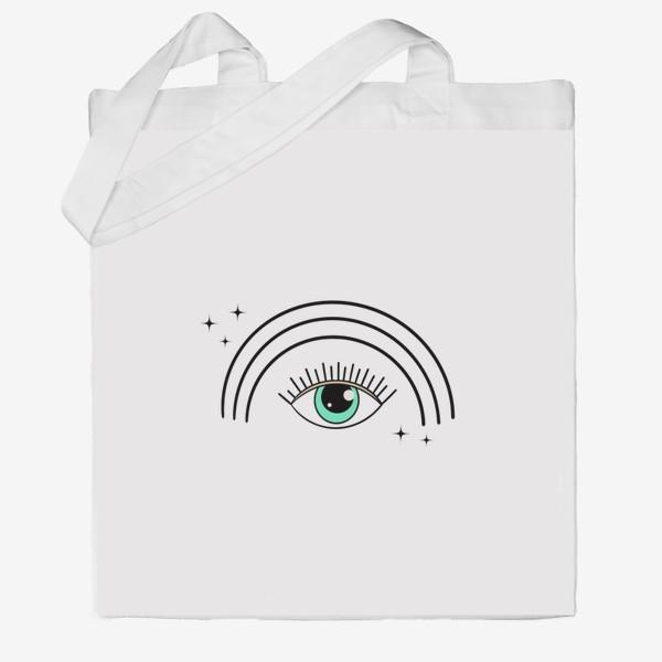 Сумка хб «Глаз с радугой»