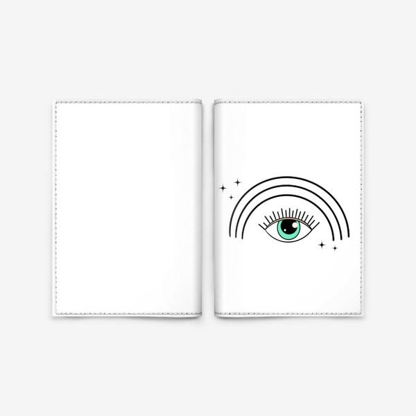 Обложка для паспорта «Глаз с радугой»