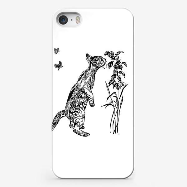 Чехол iPhone «Кот - любитель ароматов»