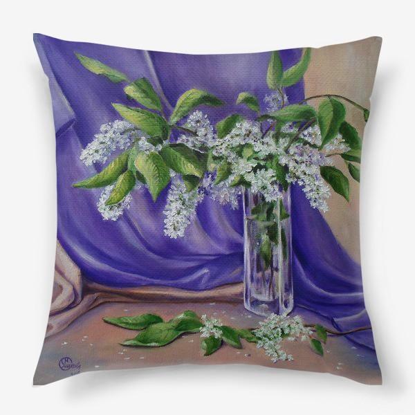 Подушка «Цветет черемуха»