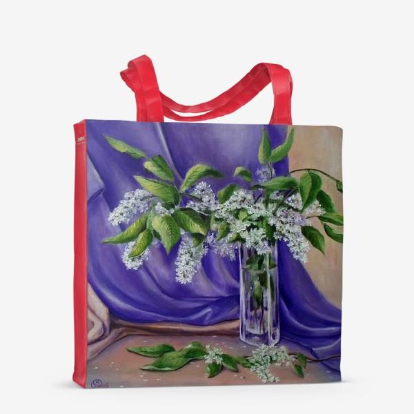 Сумка-шоппер «Цветет черемуха»
