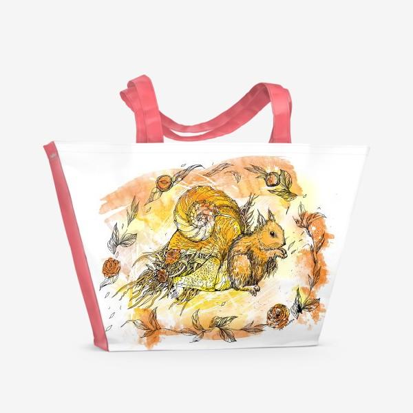 Пляжная сумка «Белочка»