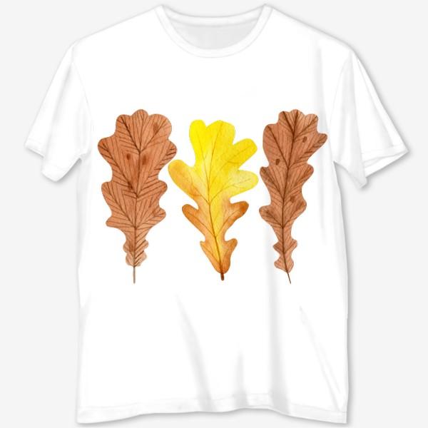 Футболка с полной запечаткой «Осенние листья»