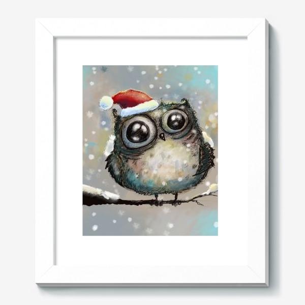 Картина «Новогодняя кофейная сова»
