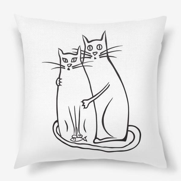 Подушка «Cats News»