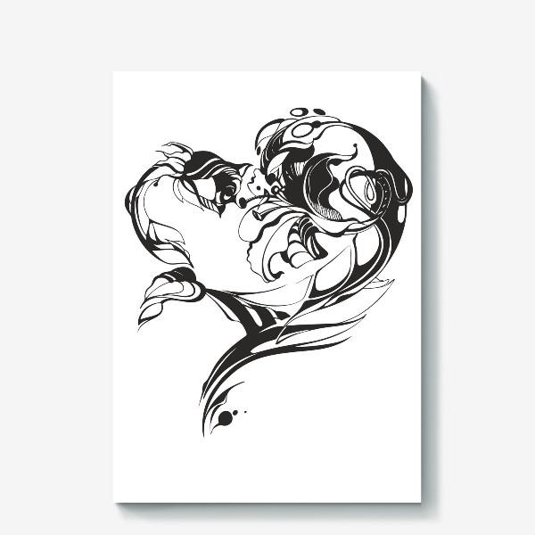 Холст «Лилия и роза»