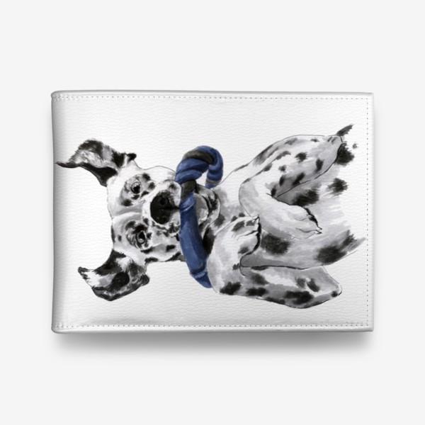Кошелек «Портрет собаки породы далматинец с игрушкой»