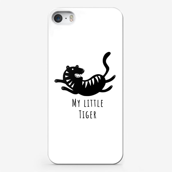 Чехол iPhone «Милый тигр. Тигренок. Новый год тигра 2022. Минималистичный дизайн для ребенка, для мальчика. Маленький тигр. Полоски»
