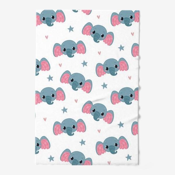 Полотенце «Бесшовный паттерн. слонята»
