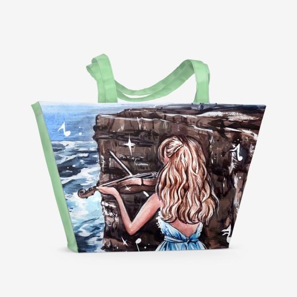 Пляжная сумка «Музыка, захватывающая дух»