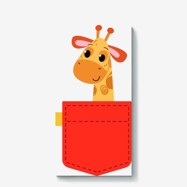 Холст «Красный карман с жирофом»