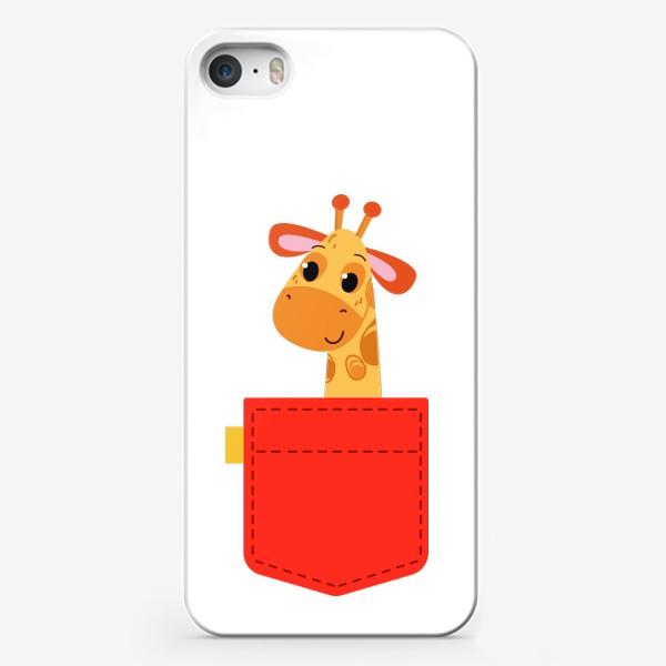 Чехол iPhone «Красный карман с жирофом»