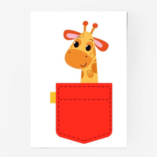 Постер «Красный карман с жирофом»