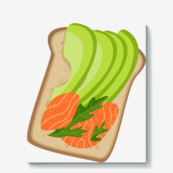 Холст «Бутерброд с семгой и авокадо»