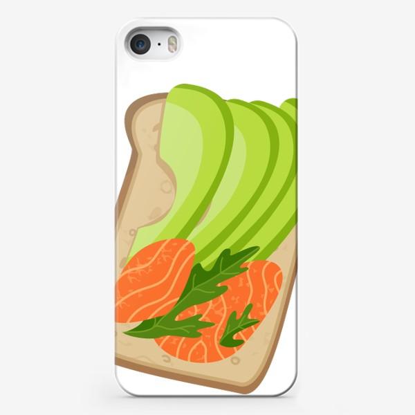 Чехол iPhone «Бутерброд с семгой и авокадо»