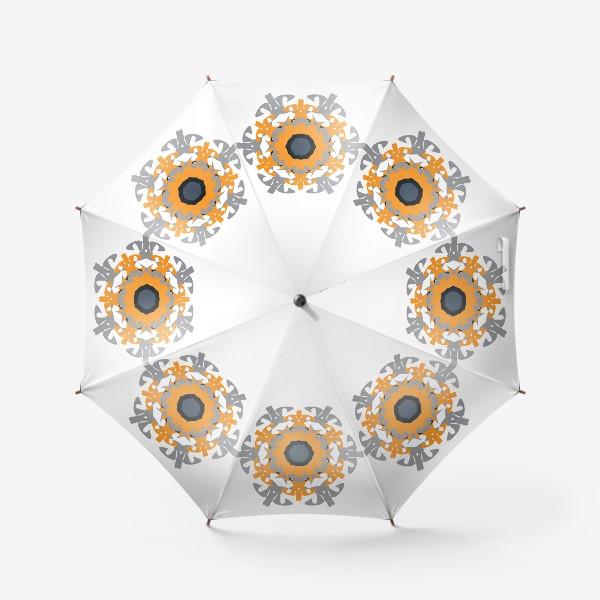 Зонт «Орнамент оранжевый »