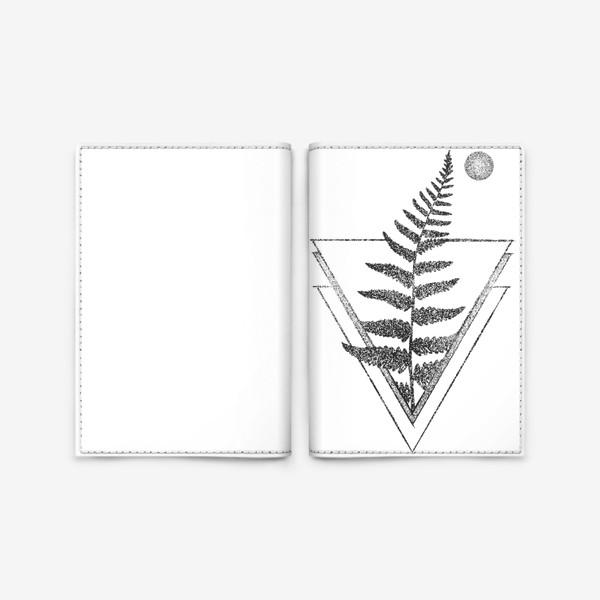 Обложка для паспорта «Fern and Moon»