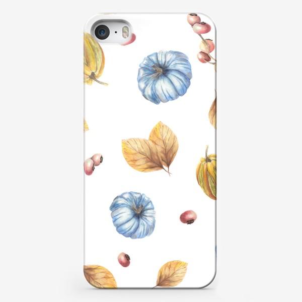Чехол iPhone «Тыквы и осенние листья»