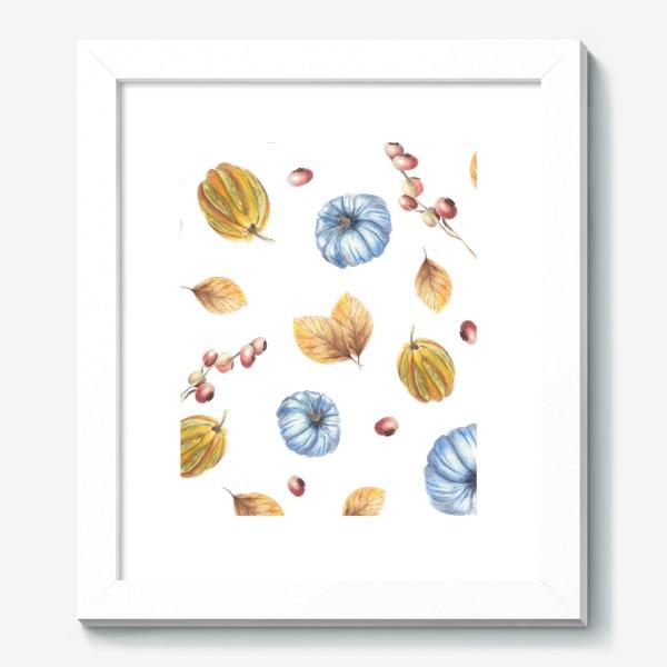 Картина «Тыквы и осенние листья»