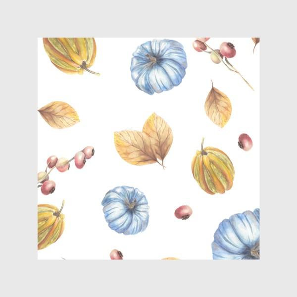 Скатерть «Тыквы и осенние листья»