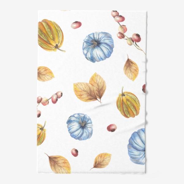 Полотенце «Тыквы и осенние листья»