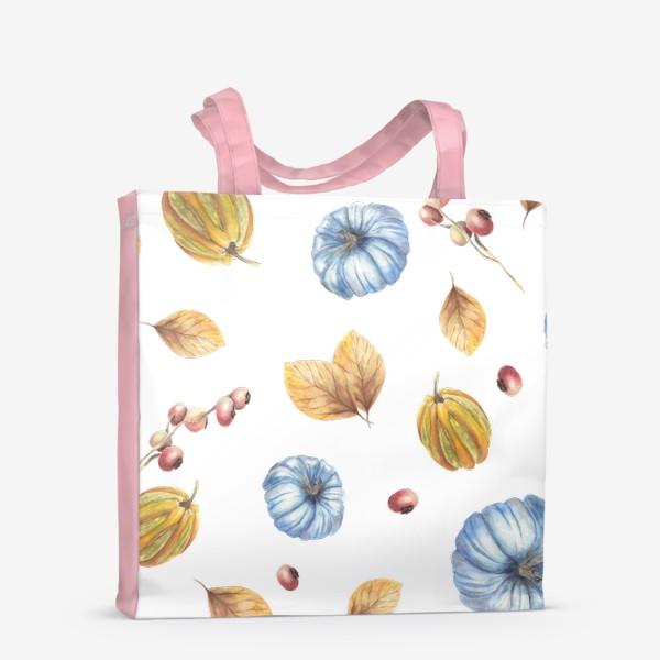 Сумка-шоппер «Тыквы и осенние листья»