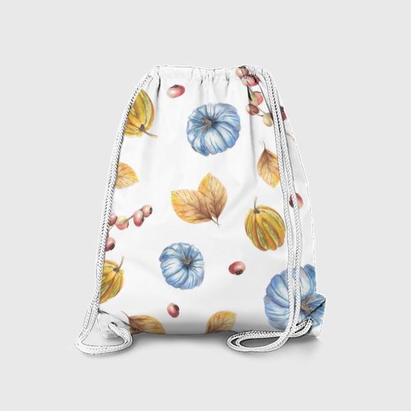 Рюкзак «Тыквы и осенние листья»