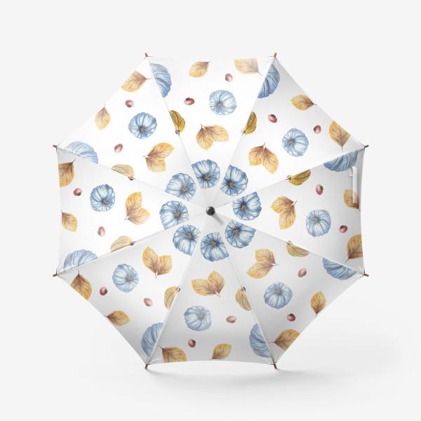 Зонт «Тыквы и осенние листья»