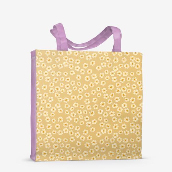 Сумка-шоппер «Мелкие цветы на бежевом »