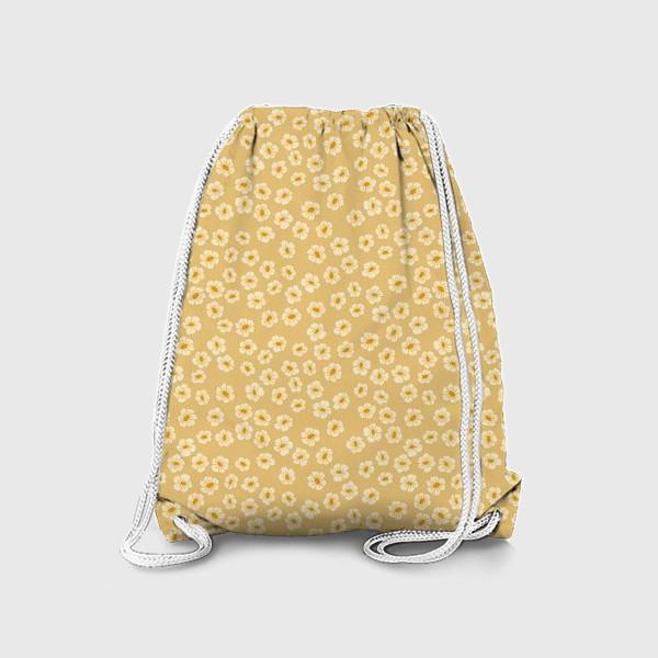 Рюкзак «Мелкие цветы на бежевом »