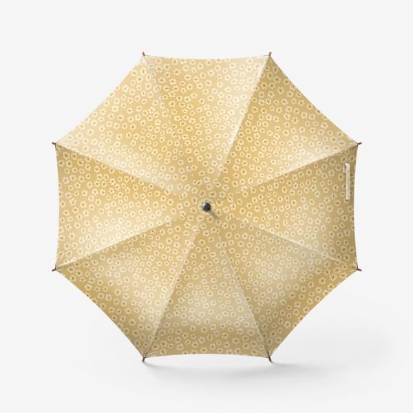 Зонт «Мелкие цветы на бежевом »