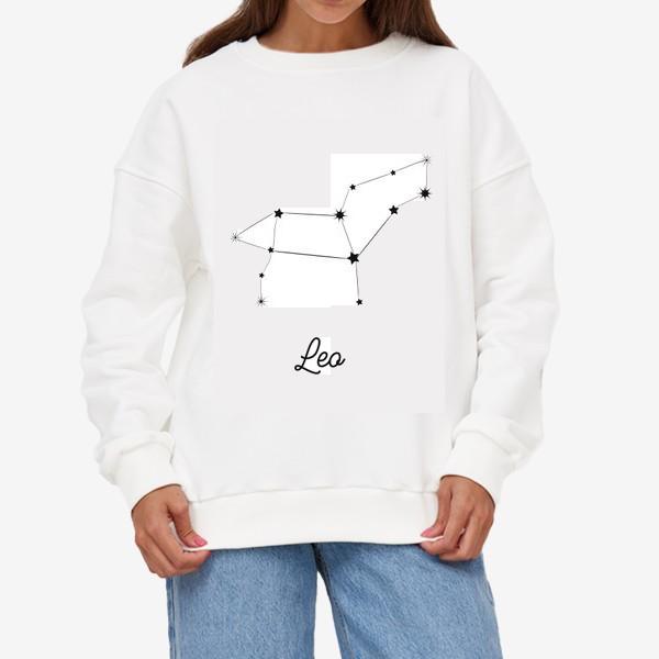 Свитшот «Лев. Знак зодиака, созвездие, минимализм»