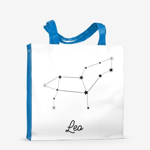 Сумка-шоппер «Лев. Знак зодиака, созвездие, минимализм»