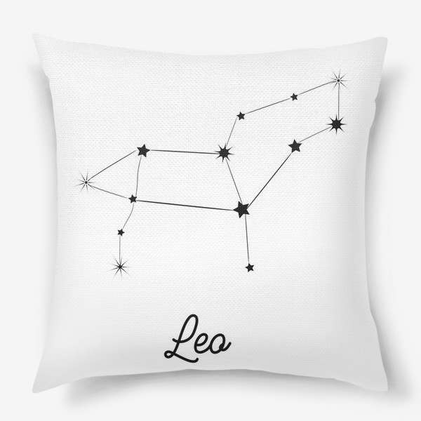 Подушка «Лев. Знак зодиака, созвездие, минимализм»