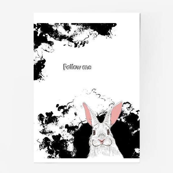 Постер «Следуй за белым кроликом»