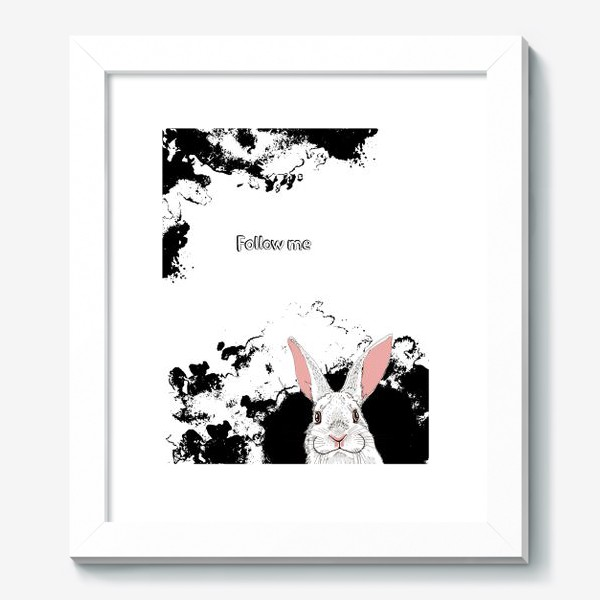 Картина «Следуй за белым кроликом»