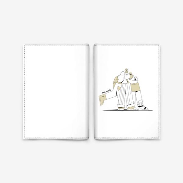 Обложка для паспорта «Best friends »