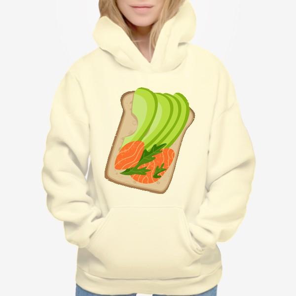 Худи «Бутерброд с семгой и авокадо»