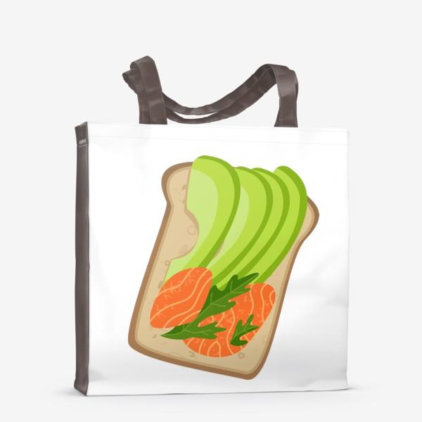 Сумка-шоппер «Бутерброд с семгой и авокадо»