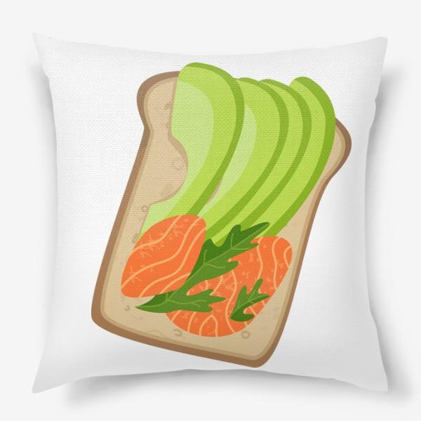 Подушка «Бутерброд с семгой и авокадо»
