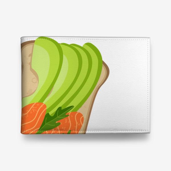 Кошелек «Бутерброд с семгой и авокадо»
