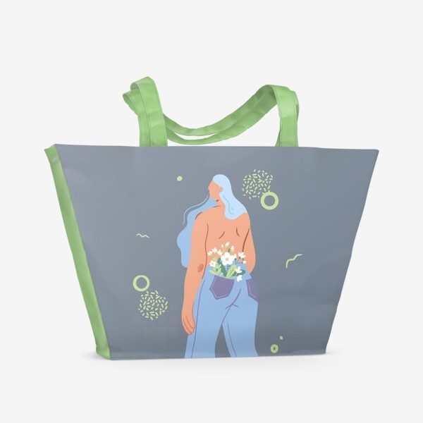 Пляжная сумка «В душе весна»