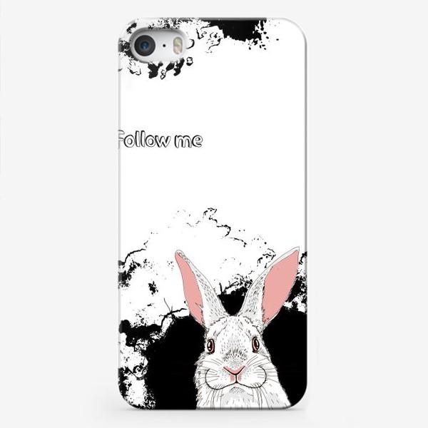 Чехол iPhone «Следуй за белым кроликом»