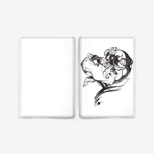 Обложка для паспорта «Лилия и роза»
