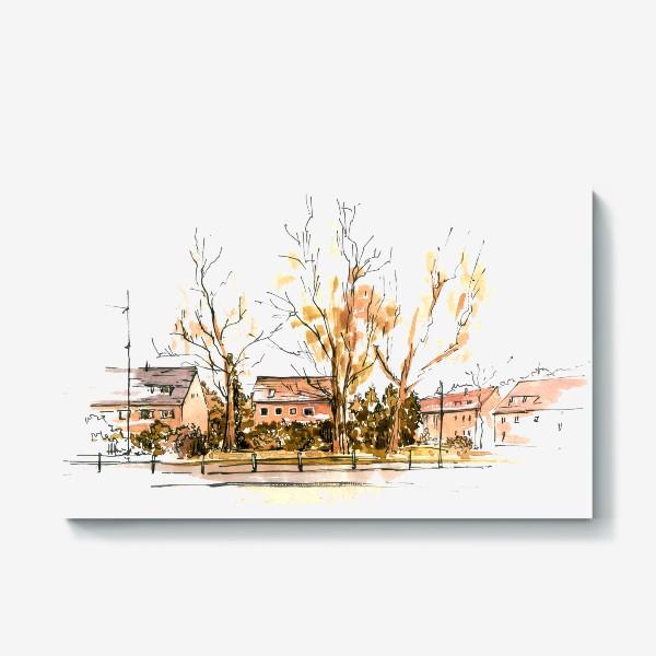 Холст «Autumn street»